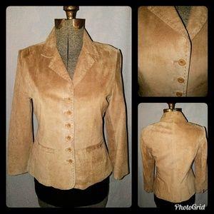 John Paul Richard Leather Blazer Jacket Tan 10